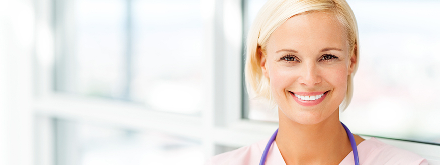 Practical Nurse smiling at camera